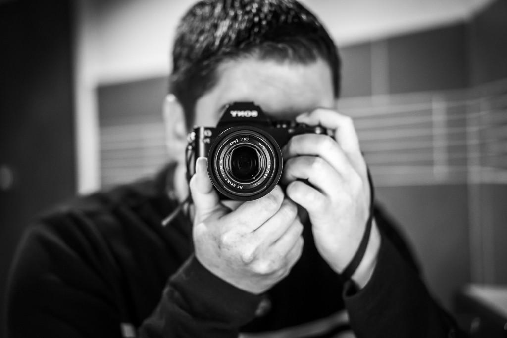 Mirror selfie. f/1.8, 1/125 sec, ISO 1600. © 2014 Samuel Morse