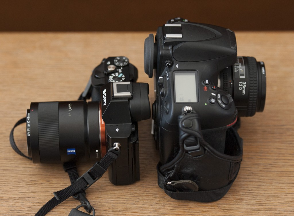 Sony a7R size comparison